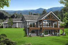 Lake House Plans, Mountain House Plans, Craftsman House Plans, House Floor Plans, Craftsman Interior, Mountain Houses, 4 Bedroom House Plans, Cabin Plans, Basement Floor Plans