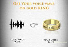 Voice engraved gold ring