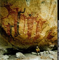 Cave paintings of the Baja Californian Peninsula. Although it isn't strictly speaking text or typography, it had the same role; communication.