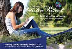 Do you want to inspire your creative writing this summer? Come along to a writing retreat with interactive creative writing workshops, informative talks and free writing time in an inspirational location. You'll get the chance to take in the stunning Sussex countryside, enjoy the fresh air and put that pen to paper. http://secretworldretreat.com/retreats/chichester-writers%E2%80%99-retreat