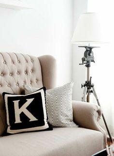 Lovely monogramed pillow.