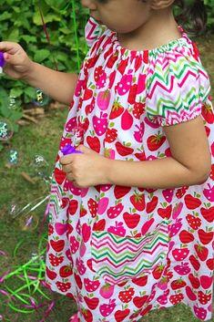 short sleeve peasant dress tutorial