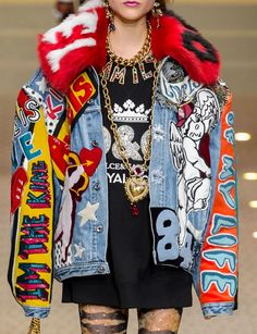 colorfull denim jackets. AW18/19 D&G