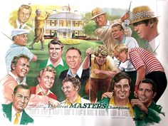 1980 Great Masters Champions Golf Legends Litho Zoeller Player Floyd Palmer ART