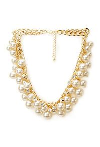 Find them here: faux pearl collars, strands and spikes | Forever 21