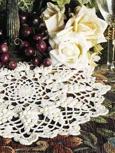 Crochet Doilies - Vintage Doily Crochet Patterns - Grape Harvest Doily