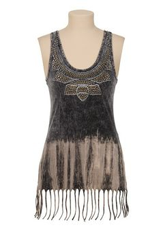 Maurices Premium Metal stud and fringe tank (original price, $34) available at #Maurices