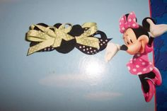 Minnie Mouse Hairbow  Green and Black by DaniellesDandys on Etsy, $4.00