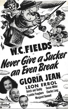 Directed by Edward F. Cline.  With W.C. Fields, Gloria Jean, Leon Errol, Billy Lenhart. Fields wants to sell a film story to Esoteric Studios. On the way he gets insulted by little boys, beat up for ogling a woman, and abused by a waitress. He becomes his niece's guardian when her mother is killed in a trapeze fall during the making of a circus movie. He and his niece, who he finds at a shooting gallery, fly to Mexico to sell wooden nutmegs in a Russian colony. Trying to catch his ...