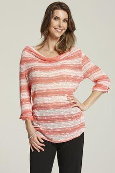 Ladies Stripe Top / Haut en tricot pour dames