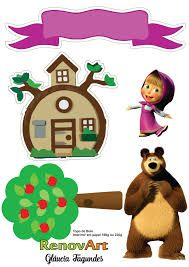 Masha and the bear Bear Birthday, 3rd Birthday, Birthday Parties, Masha Cake, Marsha And The Bear, 3d Foto, Cake Templates, Bear Theme, Bear Party