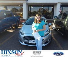 https://flic.kr/p/N2yjyB | Happy Anniversary to Paige on your #Ford #Fiesta from Scott Turner at Hixson Ford of Monroe! | deliverymaxx.com/DealerReviews.aspx?DealerCode=M553