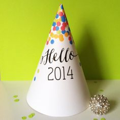 Instant Download  Party Hat  New Year's Eve by CreativeUnionDesign, $5.00