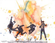 the beatles tapestry image