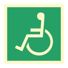 Nødutgang funksjonshemmede - Kjøp Nødskilt online Symbols, Letters, Letter, Lettering, Glyphs, Calligraphy, Icons
