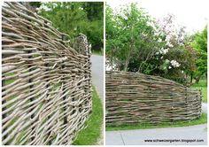 Ein Schweizer Garten: Weiden - von Pavillons und Flechtereien... Zaun aus Weide