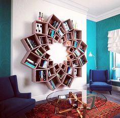Home library ideas diy bookshelves interior design Super Ideas - MY World Creative Bookshelves, Bookshelf Design, Tree Bookshelf, Bookshelf Ideas, Home Decor Furniture, Diy Home Decor, Furniture Design, Home Projects, Home Crafts