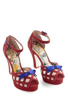 Finesse is More Heel in Red | Mod Retro Vintage Heels | ModCloth.com