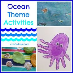 Ocean Theme Activities for young kids. Arts, crafts and activities.
