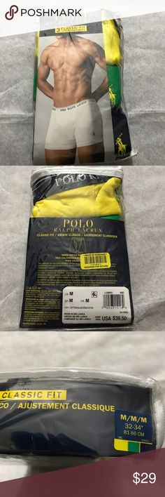 Polo Ralph Lauren 3 Classical Boxers Size Medium New in box 3 classical fit boxers Size Medium  New with tags  My prices are firm and fair 100% cotton I guarantee authentication of this Boxers  I can make you a bundle to save money on shipping cost . So please check my other items  Code : GRE Polo by Ralph Lauren Underwear & Socks Boxers