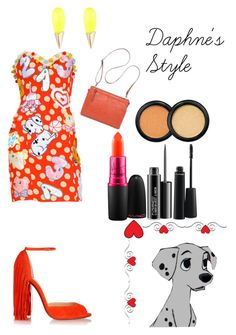 """""""Daphne's Style"""" by campanellinoo on Polyvore featuring Moschino, Christian Louboutin, Alexis Bittar, MAC Cosmetics and Bueno"""