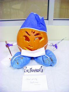 Halloween Decorated Pumpkin Medical Office Nurse Dr