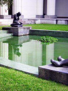 Jardín de la antigua Galería de Arte Nacional hoy Museo de Bellas Artes Caracas, Venezuela