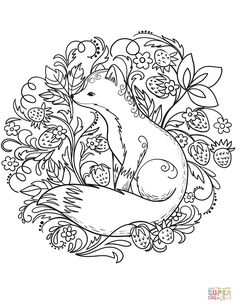 Fox coloring page from Red Fox category. Select from 27968 printable crafts of cartoons, nature, animals, Bible and many more. Fox Coloring Page, Animal Coloring Pages, Coloring Book Pages, Coloring Pages Nature, Coloring Pages To Print, Fox Embroidery, Embroidery Patterns Free, Embroidery Designs, Valentine Coloring Pages