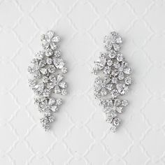 Flower Cluster CZ Bridal Earrings from Cassandra Lynne