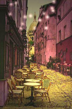 'Cafe van Gogh' von Marie Luise Strohmenger bei artflakes.com als Poster oder Kunstdruck $19.41