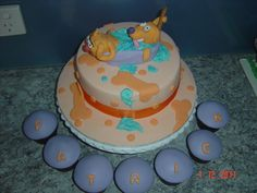 catdog cake~ Love Cake, Themed Cakes, Cake Pops, Baked Goods, Party Supplies, Sculpting, Party Themes, Cake Recipes, Sweets
