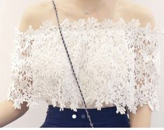 Off shoulder lace...this is the one