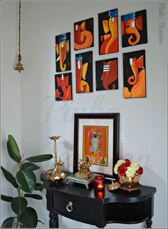 Mini Canvas Art, Diy Canvas, Acrylic Painting Canvas, Wooden Painting, Rangoli Designs, Flower Power, Lord Ganesha Paintings, Madhubani Painting, Decoration Inspiration