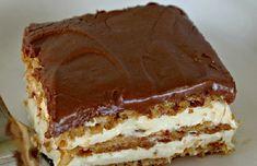 Cookie Desserts, No Bake Desserts, Delicious Desserts, Dessert Recipes, Hungarian Cake, Hungarian Recipes, No Bake Eclair Cake, Sweet Tarts, Eclairs
