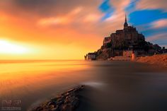 'Mnt Saint Michel sunset' by Sergio Del Rosso