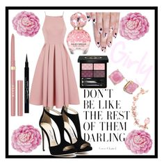"""Girly Pink"" by leanovee ❤ liked on Polyvore featuring Marc Jacobs, Ballard Designs, Chi Chi, alfa.K, Givenchy, Stila, Gucci, Joanna Laura Constantine and Kate Spade"