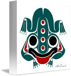 """""""Messenger""""+by+Lon+French,+Victoria+//+Spring+&+New+Life,+Stability.+Frog+is+a+symbol+of+prosperity,+considered+friendly+as+it+is+said+he+warns+humans+of+imminent+danger.+Communicator+with+beings+from+both+worlds,+and+serves+as+a+mediator.+In+Haida+culture,+the+Frog+is+often+shown+on+House+posts+because+it+is+bel...+//+Imagekind.com+--+Buy+stunning+fine+art+prints,+framed+prints+and+canvas+prints+directly+from+independent+working+artists+and+photographers."""