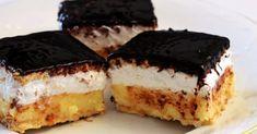 Hozzávalók:  • 2 csomag PETIT keksz (vagy rosszabb esetben háztartási keksz, de nem ajánlott) • 3 csomag vaníliás puding • 8 dl tej • 35…