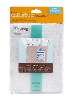 www.memorymiser.com - Cuttlebug Embossables 5x7 Pattern Folder Girly Girl