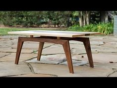 Building a Midcentury Modern Coffee Table -- Shaun Boyd Made This Made Coffee Table, Coffee Table Legs, Modern Coffee Tables, Mid Century Modern Table, Mid Century Coffee Table, Wood Table Design, Coffee Table Design, Danish Modern Furniture, Midcentury Modern