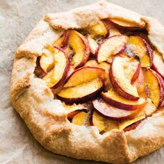 """Rustic Nectarine and Almond Galette 