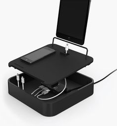 Sanctuary4 is a four-port multi device charging valet for tablets and phones. With 4-amps of power, there is plenty of juice to quickly charge multiple devices at the same time.