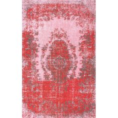 Anchor your dining table or define a space in the den with this lovely rug, showcasing an overdyed Persian-inspired motif.     Produc...