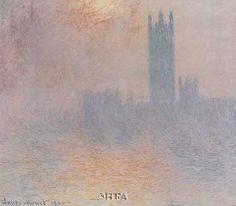 """""""London Houses of Parliament"""" - Claude Monet Art Prints available at Barewalls.com"""