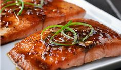 A healthy, tasty and savory salmon dish that is easy to prepare. Perfect for a weeknight dinner. Easy Salmon Recipes, Fish Recipes, Seafood Recipes, New Recipes, Whole Food Recipes, Cooking Recipes, Favorite Recipes, Healthy Recipes, Simple Recipes