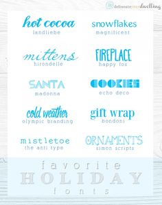 Perfect holiday themed fonts