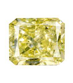 1.03 Carat Fancy Yellow Radiant Diamond