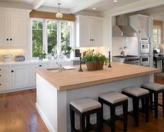 Real Kitchens: 10 Modern Applications Of The Butcher Block Countertops