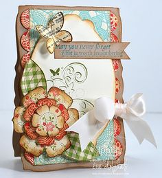 love this layout....cute paper & colors too