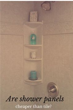 """I've been asked this many times, """"Are shower panels cheaper than tile walls?"""" Learn the answer here - http://blog.innovatebuildingsolutions.com/2015/10/16/shower-wall-panels-cheaper-tile-7-factors-consider/"""